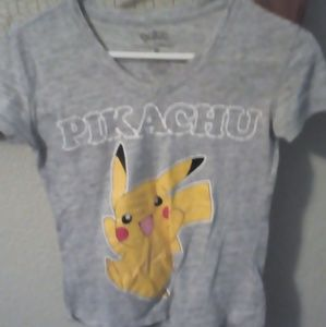 Juniors grey v neck Pikachu